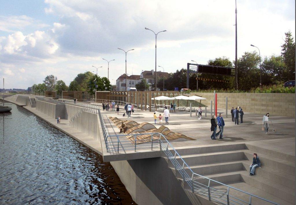 Wizualizacja przebudowy bulwarów na Wisłą w Warszawie