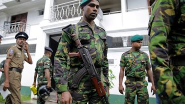 Żołnierze w Kolombo, 21.04.2019 r.