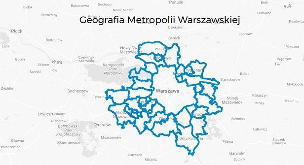 Nowa Warszawa pomniejszona o 2 gminy