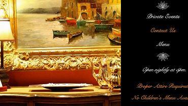 Strona internetowa restauracji Caruso's