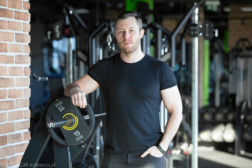 Kielce, 25 marca 2020.  Piotr Blicharski, właściciel klubu fitness Endorfina Platinium