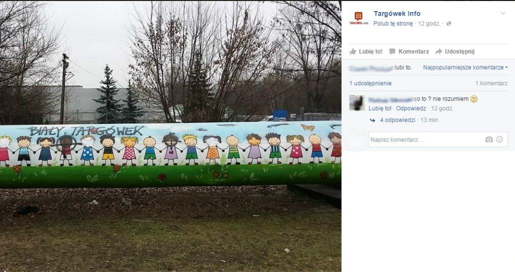 Mural namalowany przez dzieci