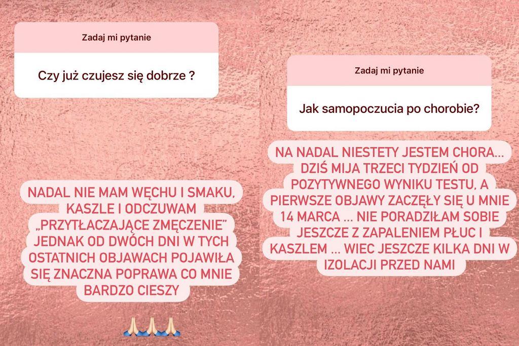 Patrycja Sołtysik o stanie zdrowia