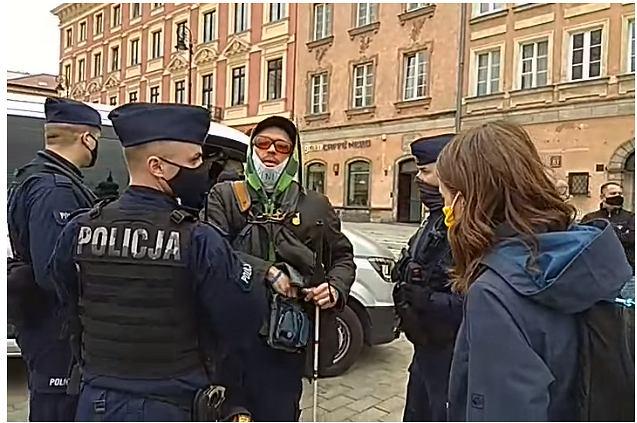 Niewidomy mężczyzna zatrzymany podczas strajku przedsiębiorców
