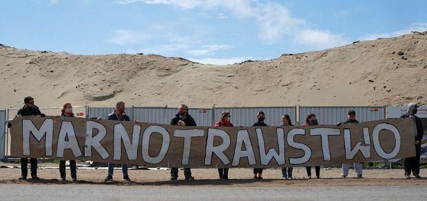 Orzekop Mierzei Wiślanej. Protest ekologów w czasie wizyty prezydenta i premiera