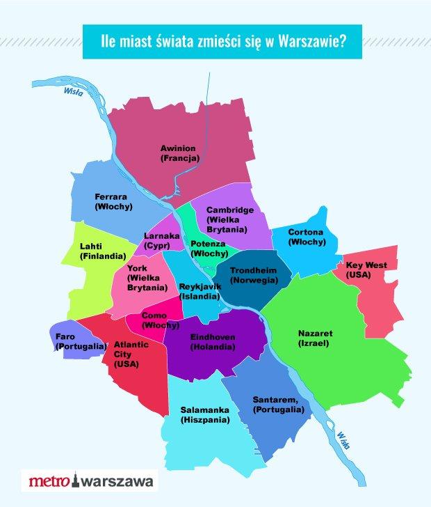 Ile państw zmieści sie w Warszawie