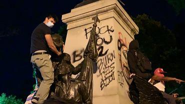 Zdewastowano pomnik Kościuszki