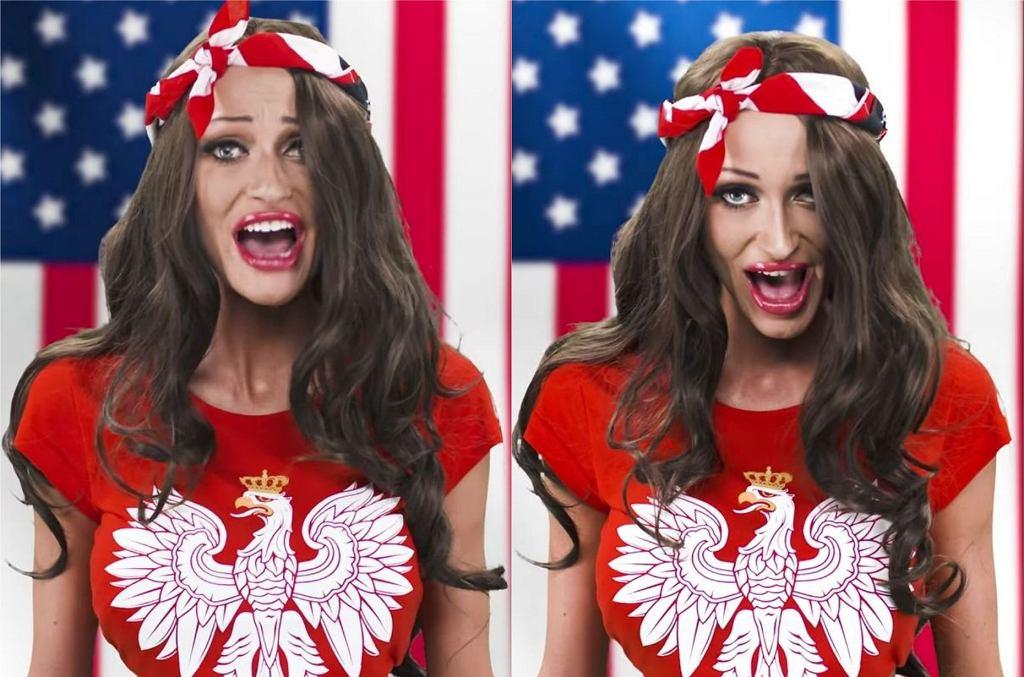 Małgorzata Godlewska śpiewa hymn USA
