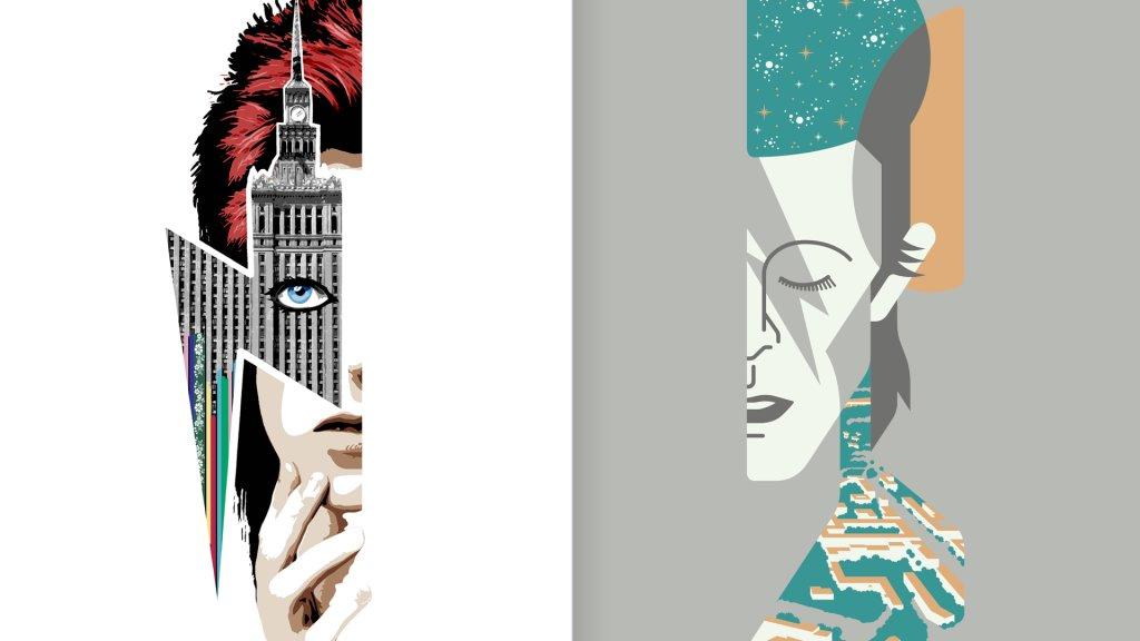 Mural dla Davida Bowie.