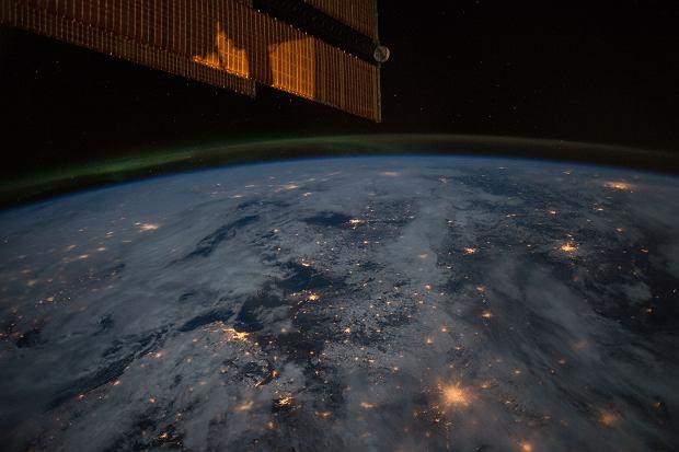 Polska nocą z pokładu ISS