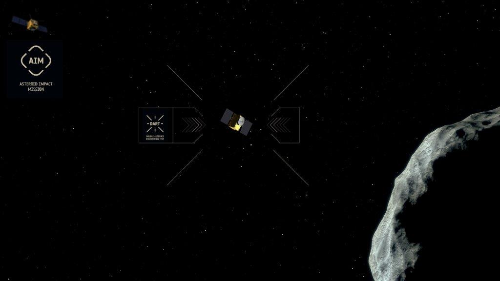 Komputerowa symulacja sondy przed uderzeniem