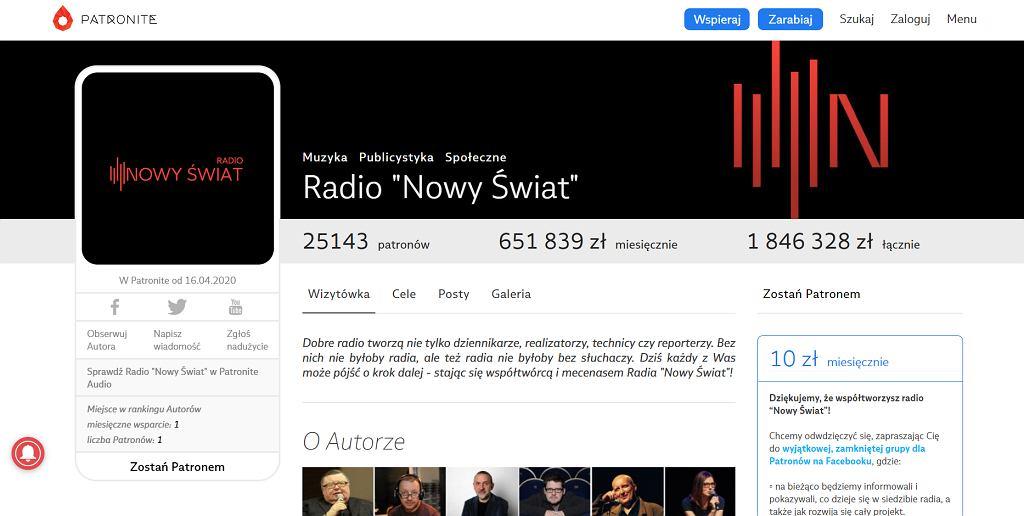 Akcja crowdfundingowa pozwoliła na rozpoczęcie działalności Radia 'Nowy Świat'