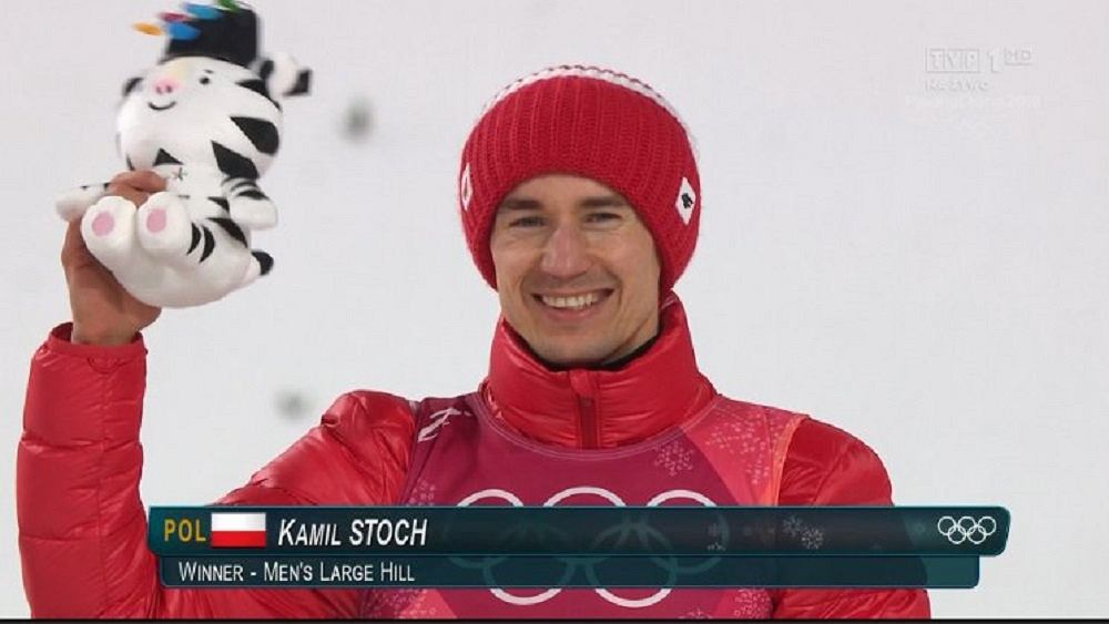 Kamil Stoch na podium