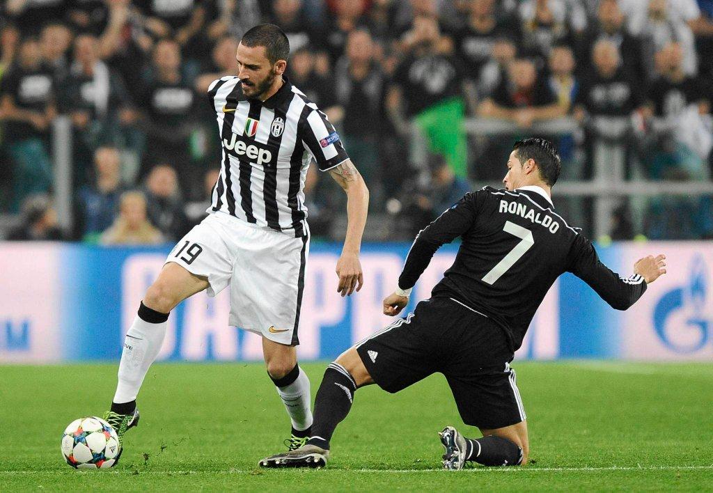 Juventus - Real 2:1. Leonardo Bonucci i Cristiano Ronaldo