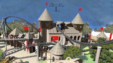 Wizualizacja Lech Coastera w wesołym miasteczku w Chorzowie