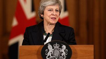 Theresa May podczas konferencji dotyczącej Brexitu 15 listopada 2018 roku