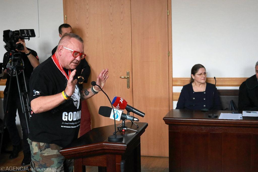 Proces posłanki Krystyny Pawłowicz przeciw Jerzemu Owsiakowi w sądzie w Warszawie