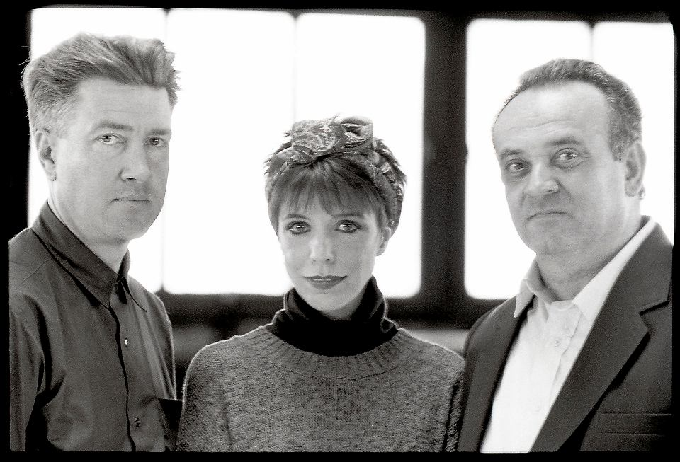 Od lewej: David Lynch, Julee Cruise i Angelo Badalamenti, Nowy Jork, 25.10.1989