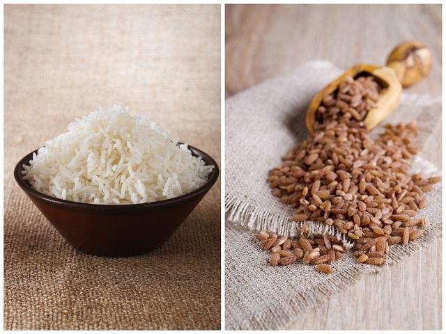 Ryż biały i brązowy