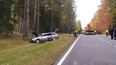 Tragiczny wypadek na DK 65 pod Białymstokiem