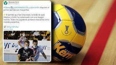 Niecodzienny mecz piłki ręcznej w Hiszpanii. Zawodnicy grali w maseczkach