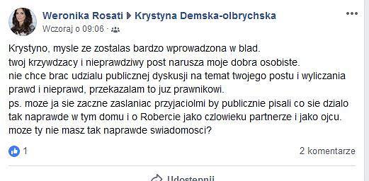 Wpis Weroniki Rosati