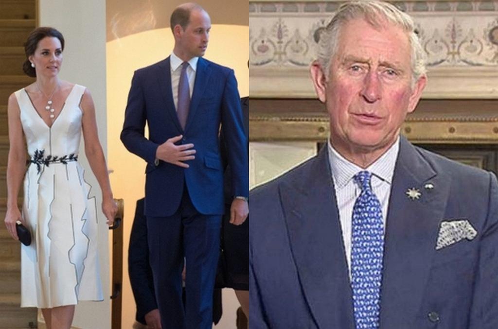 Księżna Kate, książę William, książę Karol
