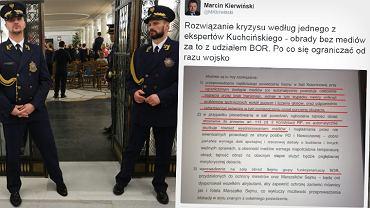 Straż Marszałkowska i zdjęcie opinii jednego z ekspertów