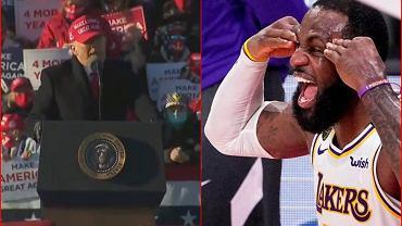 Trump wbił szpilkę LeBronowi Jamesowi. 'Szkoda mi go'
