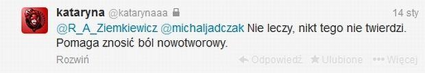 Zrzut ekranu Twitter