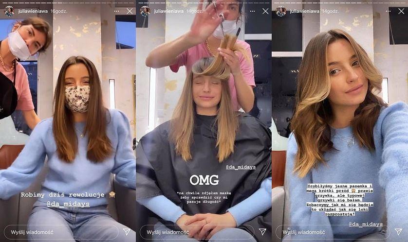 Julia Wieniawa nowa fryzura. Aktorka obcięła i rozjaśniła włosy