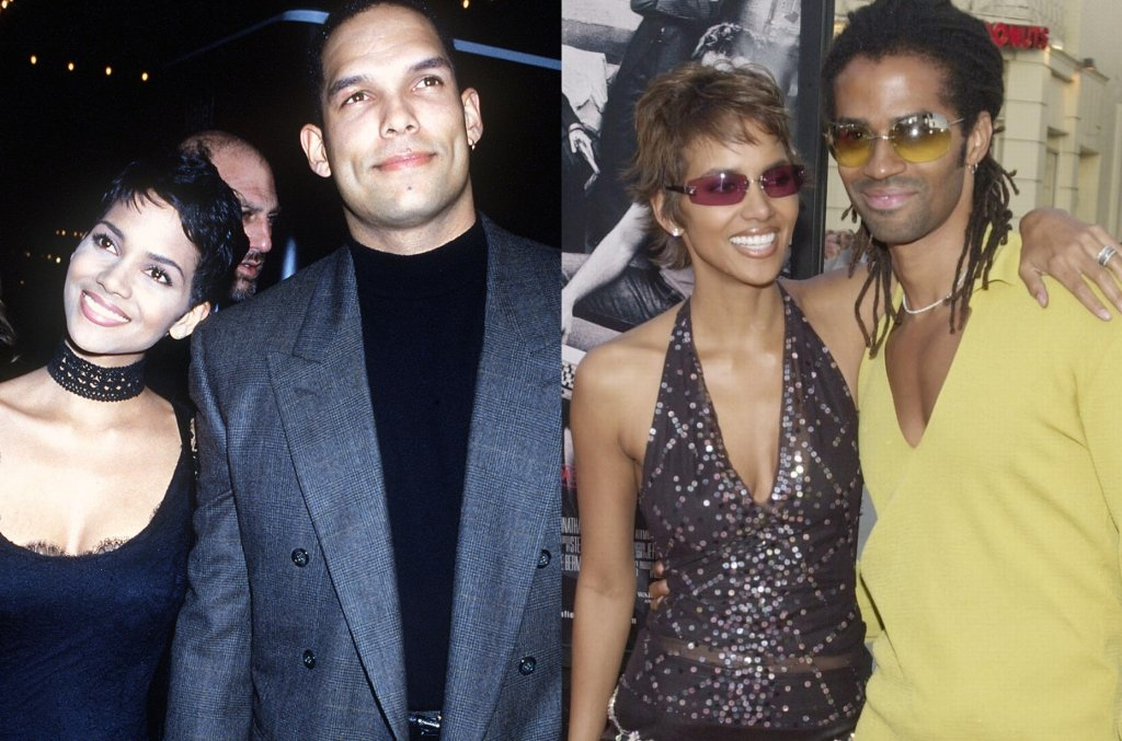 Halle Berry z byłymi mężami: Davidem Justice'em i Erikiem Benetem