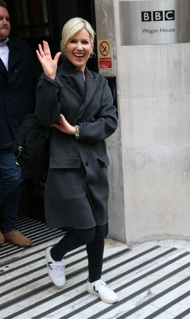 Singer Dido exits BBC studios in London after appearing on Radio 2 Graham Norton show. Also exiting BBC Radio was presenter Maya Jama in orange    Pictured:       World Rights,
