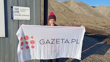 Maria Mazurek na Spitsbergenie, stacja badawcza UAM