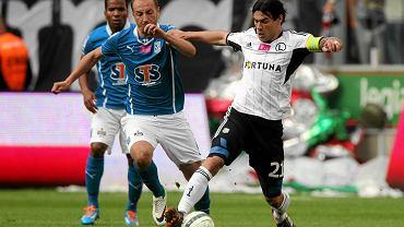 Ivica Vrdoljak (z prawej) w meczu Legia - Lech