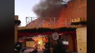 Pożar jarmarku bożonarodzeniowego