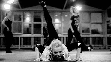 Olsztyńskie cheerleaderki w czasie treningu przed mistrzostwami Polski