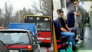 Dwóch mężczyzn przewoziło autobusem skradzione miedziane