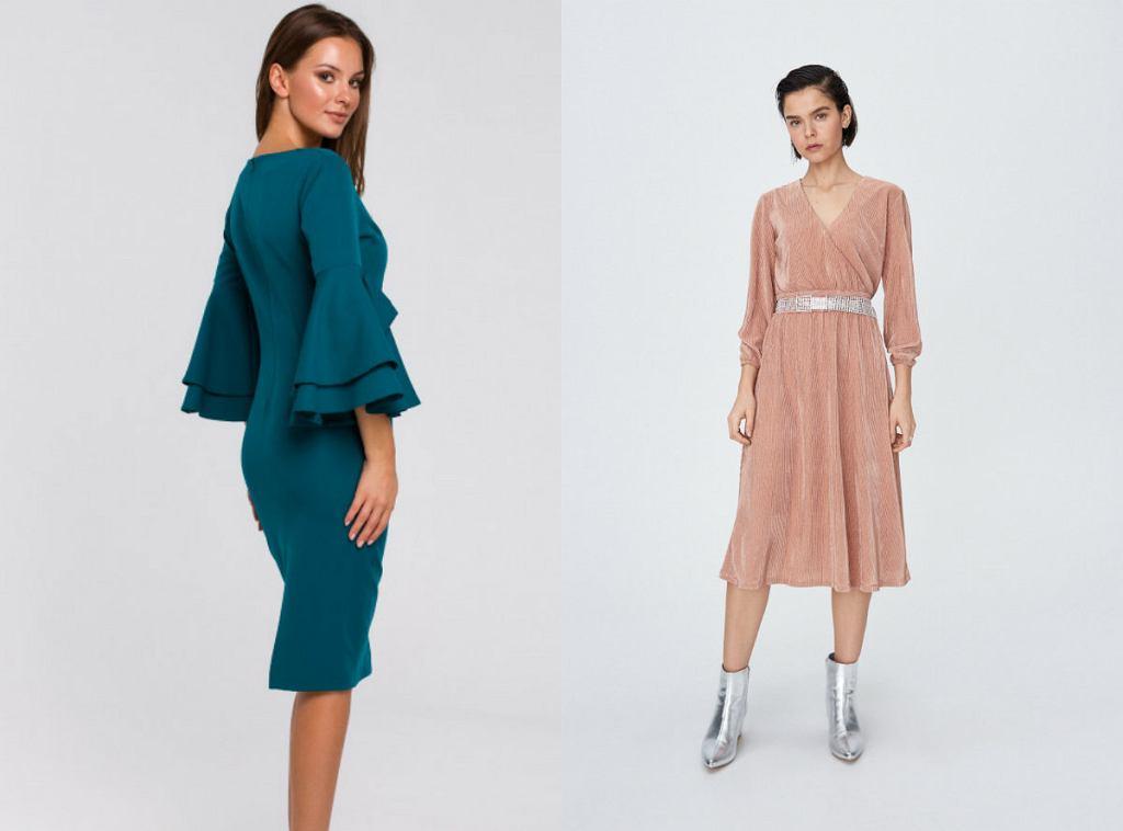 Eleganckie sukienki wizytowe za kolano