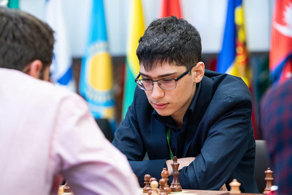 Alireza Firouzja podczas MŚ w szachach szybkich