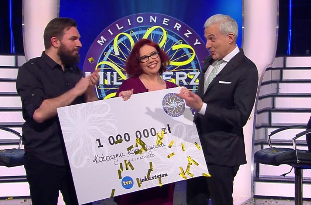 Katarzyna Kant-Wysocka wygrała milion w 'Milionerach'