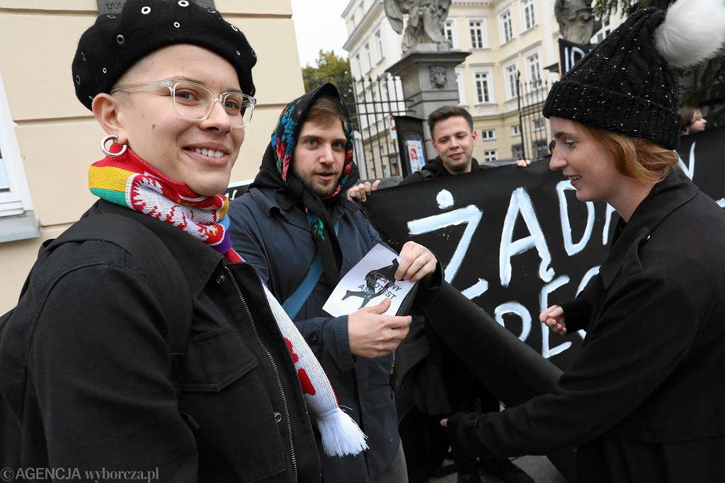 'Czarny protest' pod ASP z października 2017 r. nie przekonał władz uczelni do wprowadzenia pełnomocniczki ds. równego traktowania