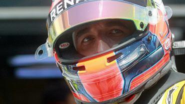 Robert Kubica podczas testów Formuły 1 na torze Hungaroring