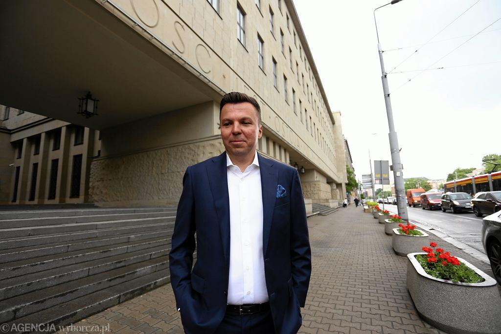 Marek Falenta podczas rozprawy ws. tzw. ' afery podsłuchowej '. Warszawa, 17 lipca 2016