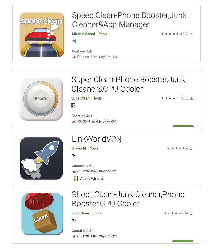 Groźne aplikacje z Google Play