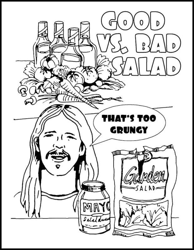 Dave Grohl uczy: dobra i zła sałatka