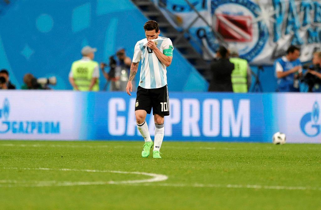 Lionel Messi w meczu Argentyna - Nigeria