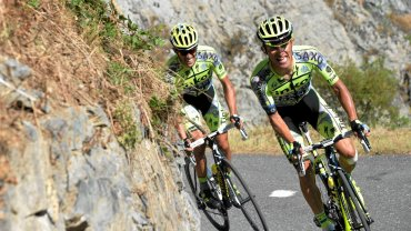 Alberto Contador i Rafał Majka