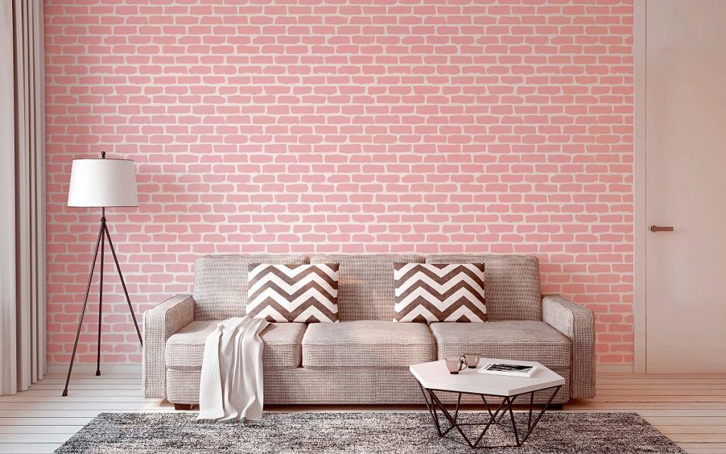 MALOWANA IMITACJA. Ceglana ściana? Nic prostszego, wystarczy kupić odpowiedni szablon. BRICK, tworzywo sztuczne, 70 x 100 cm, 79 zł, stencils.pl