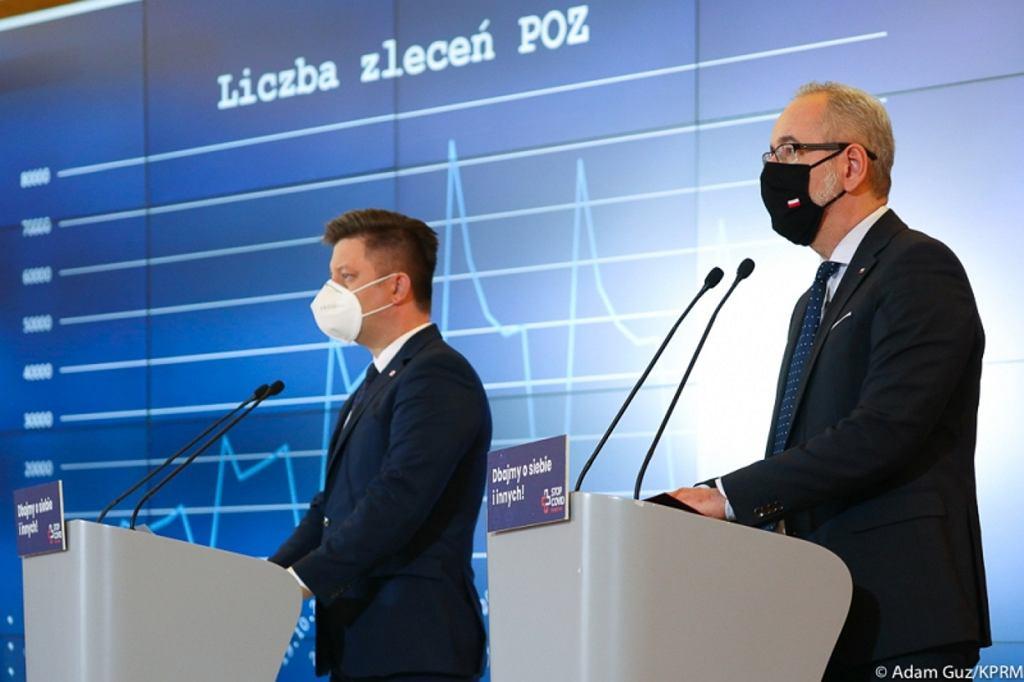 Michał Dworczyk, Adam Niedzielski. Zdjęcie archiwalne